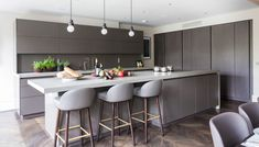 """Photos of our completely custom German kitchen cabinet collection knowns as """"modern"""". See this simple and ultra-luxury cabinetry in real kitchens. Real Kitchen, Kitchen Tile, Kitchen Modern, Design Kitchen, Wardrobe Systems, German Kitchen, Rooms Ideas, Modern Cabinets, Kitchen Pictures"""