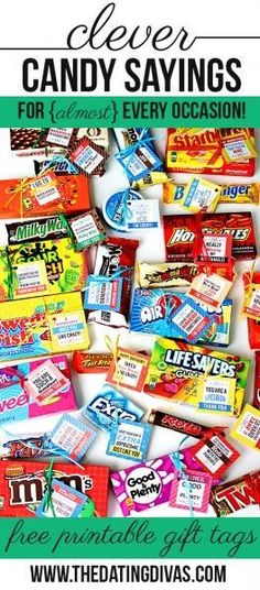 Clever candy sayings with candy quotes, love sayings and more! - Clever candy sayings with candy quotes, love sayings and more! Clever Candy Sayings for {almost} Every Occasion! Easy Gifts, Creative Gifts, Homemade Gifts, Homemade Food, Teacher Appreciation Gifts, Teacher Gifts, Volunteer Appreciation, Volunteer Gifts, Volunteer Ideas