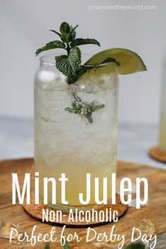 If you are looking for a great Mint Julep drink to help you celebrate Derby Day, then this is it! It is a non-alcholic version of the Mint Julep. Mint Julep Recipe Non Alcoholic, Easy Alcoholic Drinks, Drinks Alcohol Recipes, Drink Recipes, Fruit Recipes, Cocktail Recipes, Refreshing Drinks, Summer Drinks, Kentucky Derby Drinks