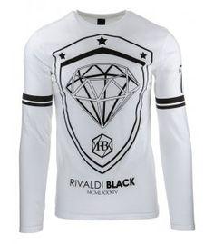 Biele tričko s dlhým rukávom
