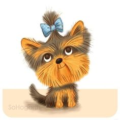 sohogarth ... With it's working class roots, this cheeky chap was originally frowned upon by the social elite. It didn't take long for the Yorkshire Terrier to win hearts everywhere, and he's my Dog a Day number 36. #yorkie #yorkshireterrier
