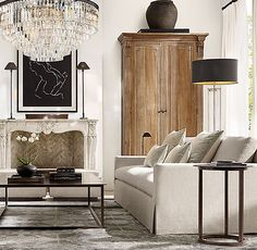 Home Decoration With Flowers Code: 7524306042 Beige Living Rooms, Home Living Room, Living Room Designs, Living Room Decor, Living Spaces, Plywood Furniture, Antique Furniture, Restauration Hardware, Lounge
