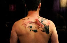 Koi fish tattoo (I really like this!)
