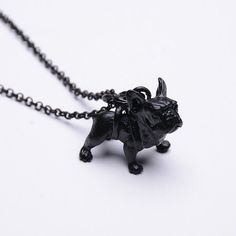 Vintage French Bulldog Necklace Women Lovely Puppy Bull Dog Statement Necklace for Women Fashion Jewelry