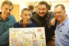 The Chuckle Brothers were in Chattoon! 3, cartooned by John Landers and interviewed by Alan Media Coach Stevens