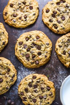 Best Chewy Café-Style Chocolate Chip Cookies - Host The Toast The Best Chewy Café-Style Chocolate Chip Cookies. These are my MOST POPULAR recipe of all time. They're so soft and chewy-- definitely the best chocolate chip cookie I've ever had! Chocolate Chip Granola Bars, Chewy Chocolate Chip Cookies, Chocolate Chip Recipes, Healthy Chocolate, Best Chocolate Chip Cookies Recipe Ever, Granola Cookies, Chocolate Chip Cookie Cake, Pudding Cookies, Chocolate Chocolate