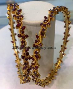 Jewellery Designs: Ruby Bangles and Earrings