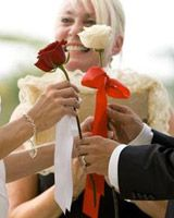 rose ceremony- mothers give child rose, they exchange, and usually give to new mother