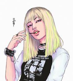 Lisa of blackpink Kpop Drawings, Cute Drawings, Blackpink Lisa, Drawn Art, Lisa Blackpink Wallpaper, Black Pink Kpop, Digital Art Girl, Kpop Fanart, Cartoon Art