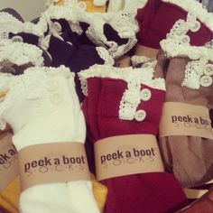Peek a Boot Socks