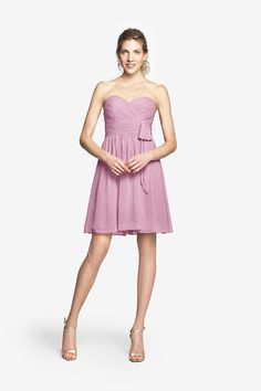 Sweetheart Dress in Chiffon, MADISON DRESS. Free Shipping. Free Size Exchange. #Bridesmaid Purchase Code: 6135469149