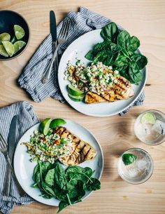 Grilled swordfish steaks with herbed corn salad, in partnership with @WholeFoods.