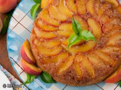 Peach Upside-Down Cake - Love pineapple upside down cake, but peach . . .  will have to try!