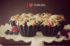 Bakergirl: Brown Butter Berry Cheesecake Muffins.