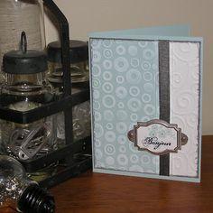 Mel Stampz: Quick Cuttlebug Card: Two tone cuttlebuggin