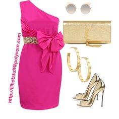 Designer Clothes, Shoes & Bags for Women Gold Dress Outfits, Gold Outfit, Dress Up Closet, Dressy Attire, Formal Wear, Dress Skirt, Polyvore, Latest Trends, My Style