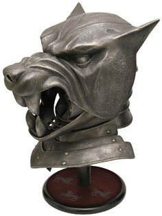 The Hound's Helm. Oh. My. Gosh. I NEED THIS! From Valrian Steel. All of their items are officially licensed. Strictly limited to 2500 pieces, will include a display stand and certificate of authenticity. $300. Someone please buy me one!
