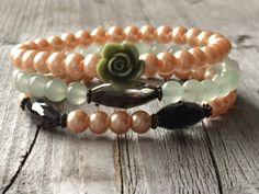 Woman bracelet Bracelet set Rose bracelet Woman door KennlyDesign