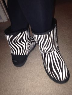 Limited edition calf hair zebra UGGs. Now everyone knows how much I love lounging in my UGGs but these are one of my favorite pairs! I never want to tale them off! They are so cute and so comfortable!