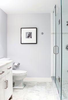 Pretty master bathroom color and design