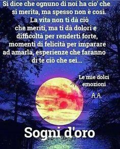 Day For Night, Good Night, Good Morning, Italian Quotes, Meryl Streep, Positivity, Happy, Life, Dolce