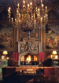 ♜ Shabby Castle Chic ♜ rich and gorgeous home decor - fireplace