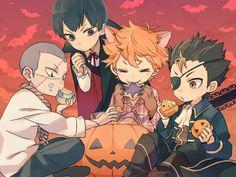 Halloween- Tanaka, Kageyama, Hinata, and Nishinoya