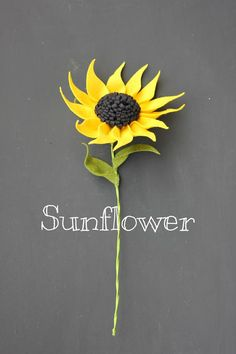 Felt Sunflower. Build Your Own Bouquet. by TheFeltFlorist on Etsy, $14.00