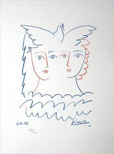 Pablo Picasso : Femmes à la colombe - 1956