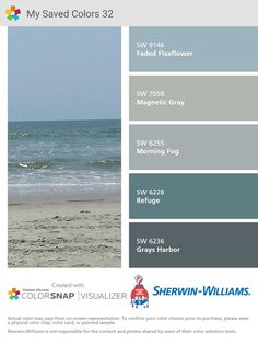 Grays Harbor paint color SW 6236 by Sherwin-Williams. View interior and exterior paint colors and color palettes. Get design inspiration for painting projects. Exterior Paint Colors For House, Interior Paint Colors, Paint Colors For Home, Exterior Colors, Interior And Exterior, Interior Design, Neutral Paint Colors, Paint Color Schemes, Gray Paint