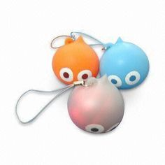 Stress Balls, Made of TPR and EVA, Nontoxic, Can be Hung on Mobile Phones