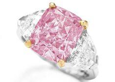9ºlugar entre as jóias mais caras do mundo. Diamante Rosa, 5quilates, US$11,8milhoes.RosaDivulgação/Christie's
