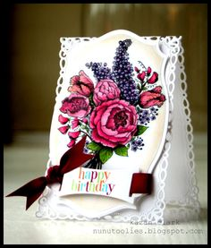 Kazan Clark: A Birthday Card for Flourishes Timeless Tuesday Challenge - Spring Bouquet
