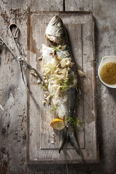 Grilled Fish with Warm Fennel Slaw (Recipe by Brenda Anderson, Photography by Chia Chong, Styling by Libbie Summers)