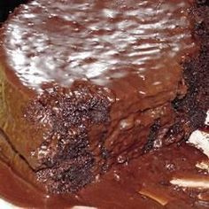 Chocolate Pudding Fudge Cake Allrecipes.com I may have to see if i can make this in my Rock Crok in the microwave!!