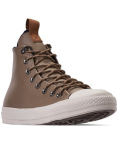 395dff8cbca Converse Men s Jack Purcell Desert Storm Leather Hi Casual Sneakers from  Finish Line - Brown 9