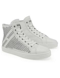 #HOGANREBEL Women's Spring - Summer 2013 #collection: leather High-top #sneakers with silver studs on the side. In Limited Edition, exclusively online.