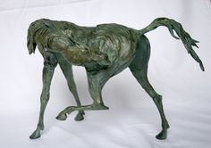 Marcela Ganly, Argentine Contemporary  Wild Itch  Bronze  Edition 1/10 (color is more of a mint green)  Dimensions 9.5 in tall x 15 in long x 5 in wide  $5500    To order call Jeanne on 845.505.1147