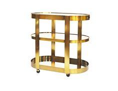 Worlds Away Hugh Mirrored Brass Bar Cart Brass Bar Cart, Hudson Yards, Mirror With Shelf, Wine Bottle Holders, Home Entertainment, Modern Spaces, Steel Metal, Simple Elegance, Display Shelves
