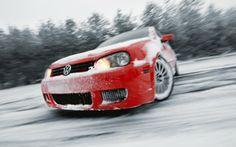 Volkswagen Golf drift