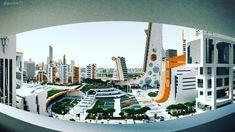 Green Park, Ono City, Minecraft Minecraft City, Green Park, Futuristic, Opera House, Building, Travel, Viajes, Buildings, Destinations