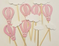 Set di 12 aria calda palloncino torta cupcake di KaLiceDesign
