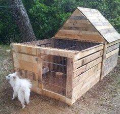 Pallet Project - Pallet Dog Kennel.  #pallets  #palletproject