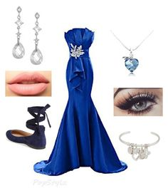 """Ravenclaw Yule ball"" by pecjunior on Polyvore featuring Steve Madden, Bling Jewelry, Henri Bendel and LASplash"