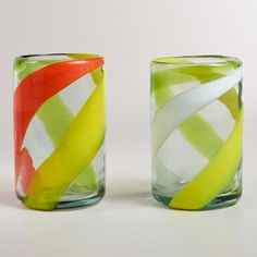 One of my favorite discoveries at WorldMarket.com: Warm-Toned Swirl Tumblers, Set of 2 -- $12