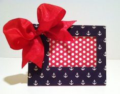 Anchor Picture Frame by MagnanimousMartha on Etsy, $18.00