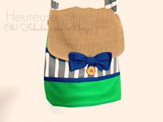 Mon éco vert bag, created by Heureuse Gifts and Accessoires, https://www.etsy.com/people/labelleheureuse?ref=si_pr