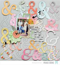 by @paigeevans for #AmericanCrafts #scrapbooking #amytangerine