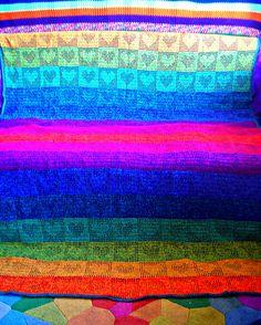 Rainbow Hearts Crochet Afghan   Flickr - Photo Sharing!