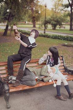 Yato & Yukine cosplay (Russia - Polly Ovsyannikova & Tovarish N (Товарищ N) )